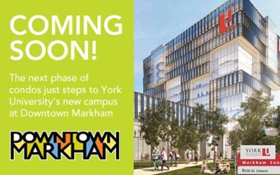 York Condos Coming Soon to Downtown Markham